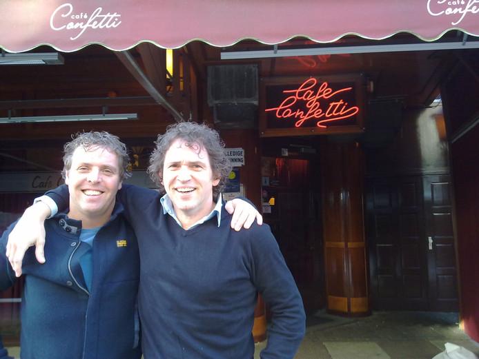 Joost Cales en André Holterman van Café Confetti liggen in de clinch met de gemeente Apeldoorn.
