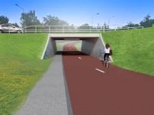 Deze tunnel in Gennep bezorgt fietsers straks een veilige oversteek