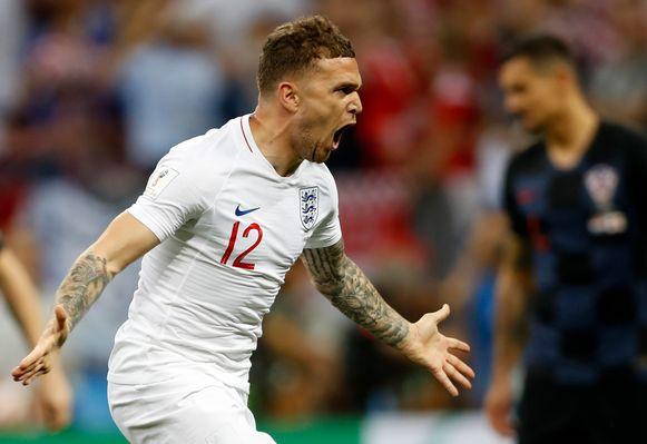 Kieran Trippier bracht Engeland op voorsprong.