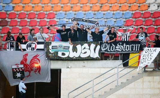 Environ 30 courageux supporters de Charleroi avaient fait le déplacement à Jérusalem.