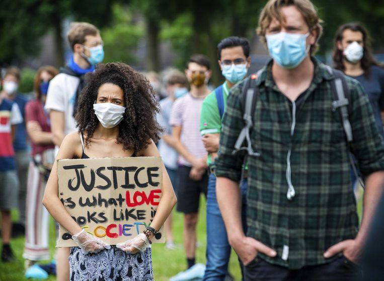 Een protest in Wageningen.  Beeld ANP