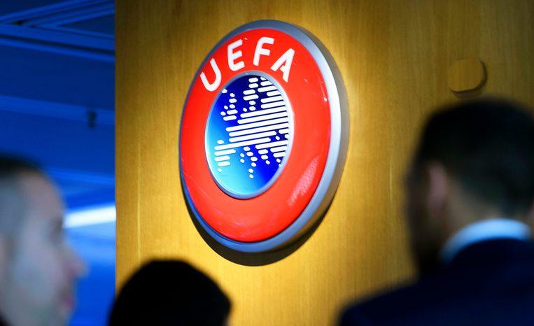 De UEFA sprak eerder al zijn afkeuring uit over de voorgenomen plannen van een Super League. Beeld EPA