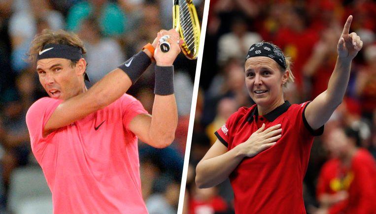 Rafael Nadal en Kirsten Flipkens.