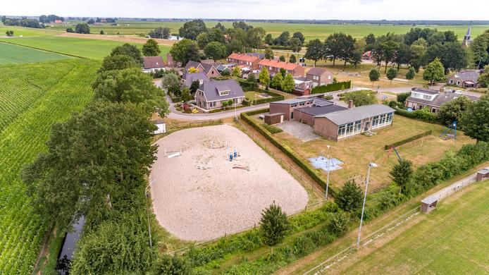 De huidige locatie van de Dijkruiters in Blankenham, die plaats moet maken voor woningbouw.