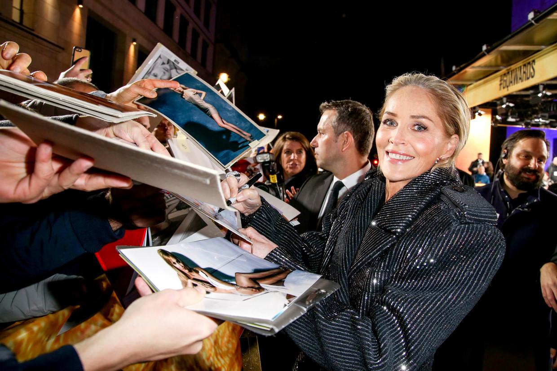 Sharon Stone: 'Ik weet wat me te wachten staat door me zo kwetsbaar op te stellen. Maar ik wil niet in het defensief gaan.' Beeld Getty Images for GQ Germany