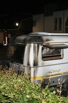 Caravan brandt uit in Culemborg