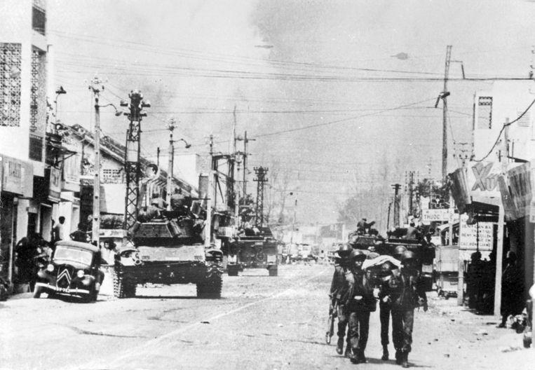 Een archieffoto van Saigon tijdens de Vietnam-oorlog. Beeld AP
