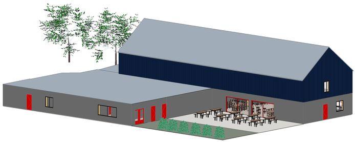 Zo moet de nieuwbouw bij voetbalclub AZ 2000 eruit gaan zien.