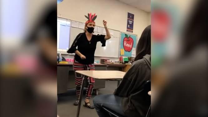 Leerkracht geschorst na denigrerend 'indianendansje'