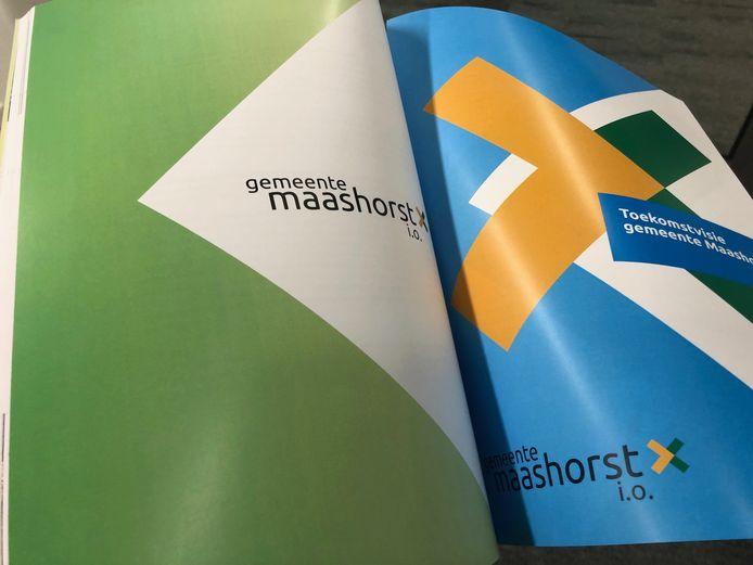 Het ruim 150 pagina';s dikke herindelingfsontwerp voor de niewue gemeente Maashorst.