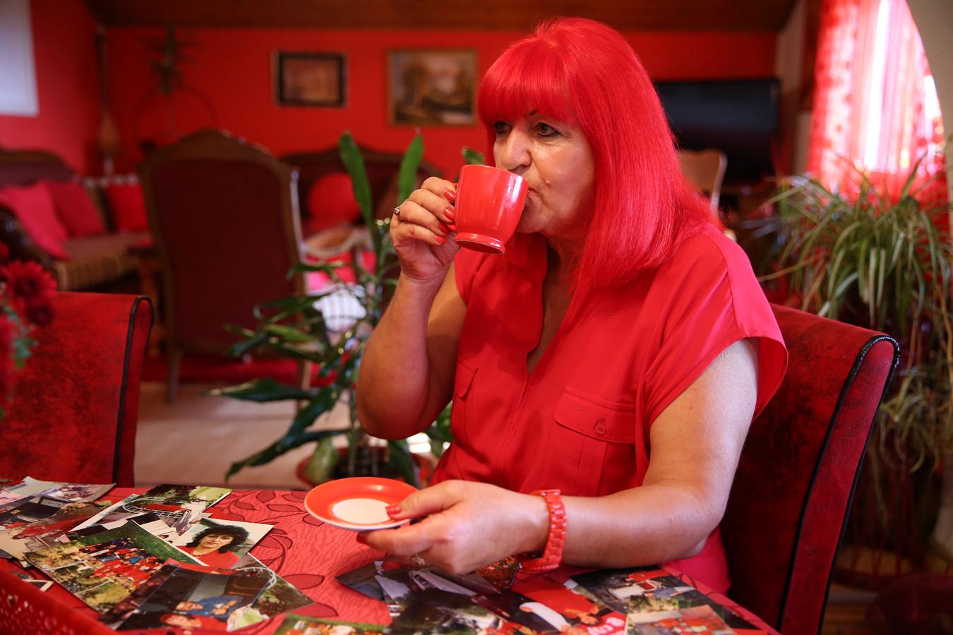Zorica Rebernik is dol op rood