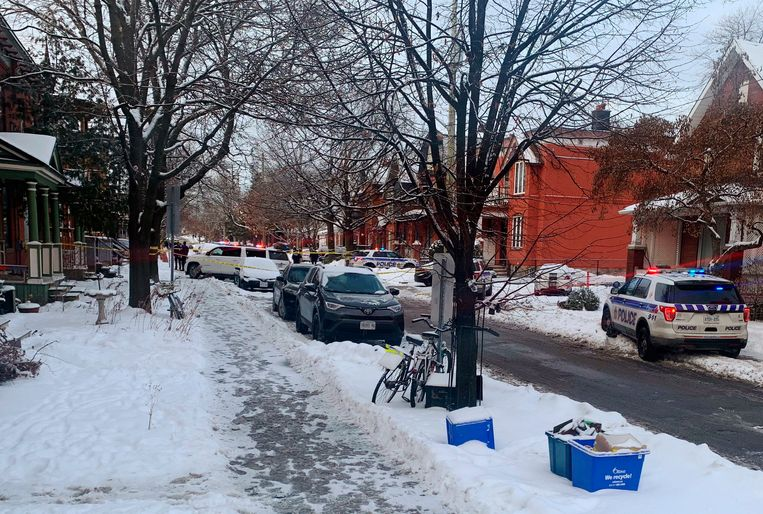Politie ter plaatse in Ottawa. Beeld AP
