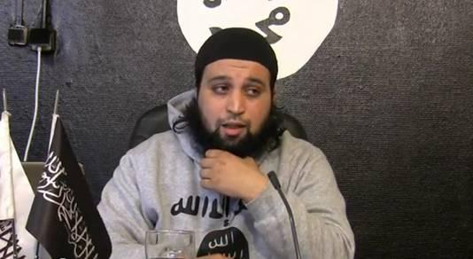 Hicham Chaïb in 2012, als plaatsvervangend woordvoerder van Shariah4Belgium.