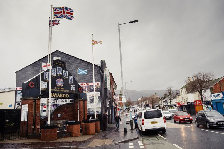 Shankill Road in Belfast. Beeld Carlotta Cardana