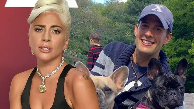 Hondenuitlater Lady Gaga voor het eerst sinds overval weer in het openbaar gezien