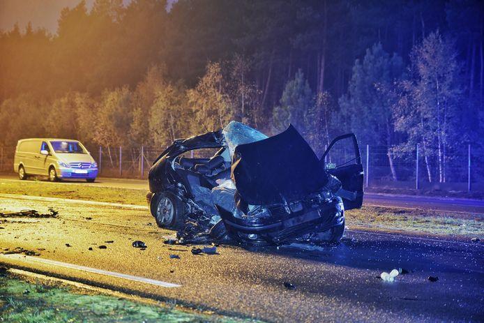 Dodelijk ongeluk op de Burgemeester Letschertweg in Tilburg.