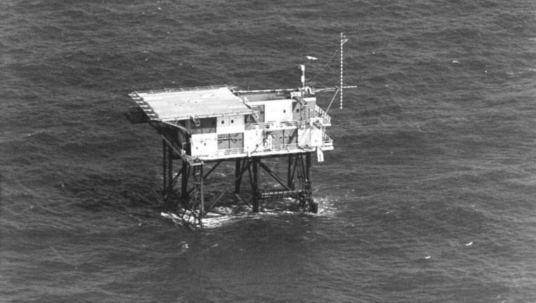 Het REM-eiland in 1981. Foto ANP Beeld