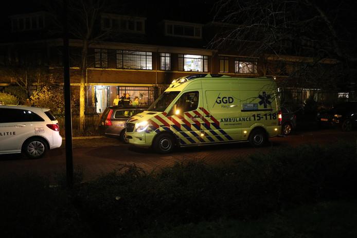 De kinderwagen waar de vrouw mee liep, raakte met kind en al te water langs de Huis te Hoornkade in Rijswijk.