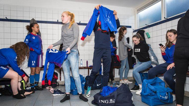 Het talententeam van SC Buitenveldert. Met blonde staart: Norah Beeld Dingena Mol