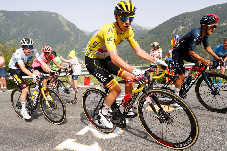 Tadej Pogacar in Andorra. Beeld Photo News