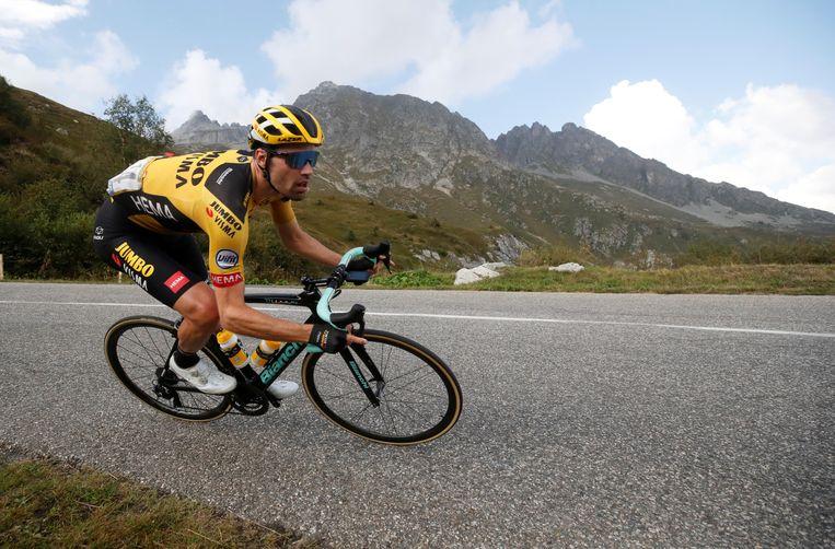Tom Dumoulin vorig jaar tijdens de Tour de France.  Beeld Reuters