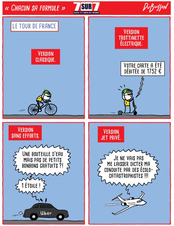 """""""Chacun sa formule"""": le dessin de Marc Dubuisson sur le Tour de France, 5 juillet 2019"""