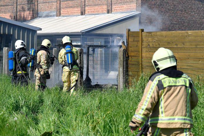 De brandweer kwam snel ter plaatse om het vuur te blussen.