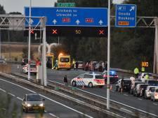 Kilometers file door ongeluk A12 bij Gouda