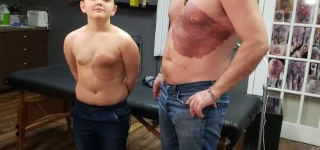 Il se tatoue la même tache de naissance que son fils pour une jolie raison