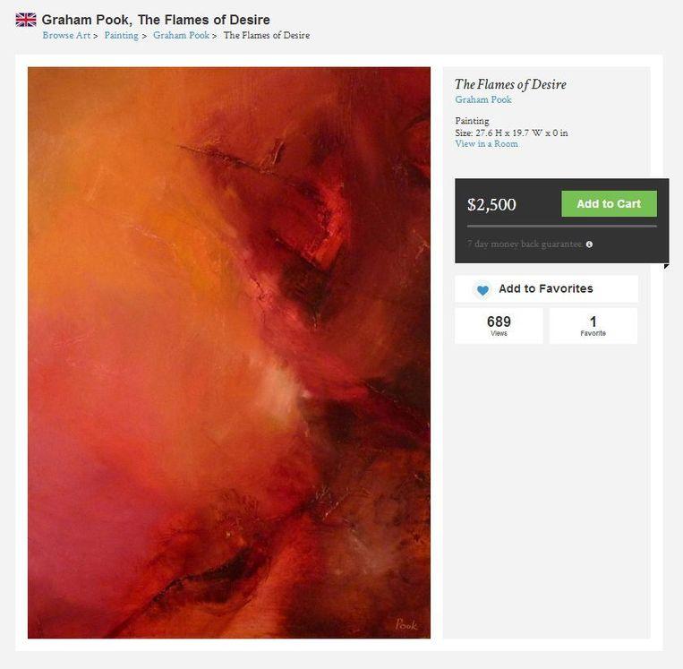 3 Saatchi Art - The Flames of Desire (2011)- 70x50cm - Graham Pook Beeld .