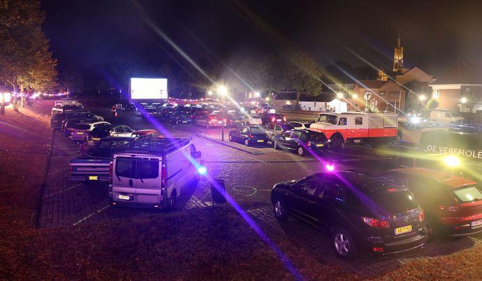 De drive-in-editie van Zomerfilm op het Oranjebolwerk in Hulst, vorig jaar.