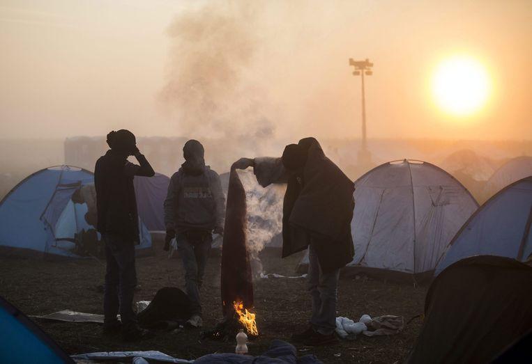 Vluchtelingen aan de Hongaars-Duitse grens Beeld AP