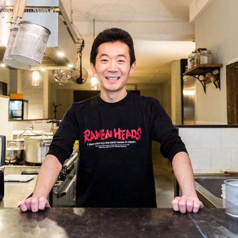 De eigenaar van ramenrestaurant Men Impossible Beeld Tammy van Nerum