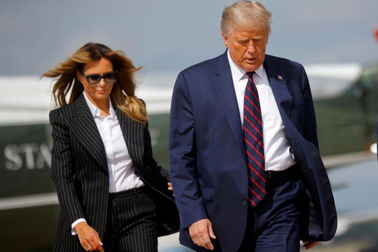 Donald en Melania Trump eerder deze week in Cleveland. Beeld REUTERS