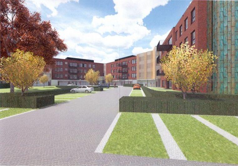 Een simulatiebeeld van het nieuwe zorgcomplex van Mater Dei