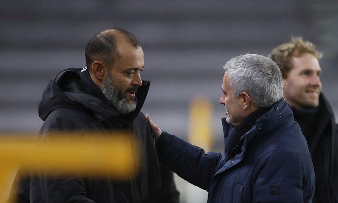 Nuno Espirito Santo (links) en José Mourinho vormen de Portugese delegatie in de Premier League.