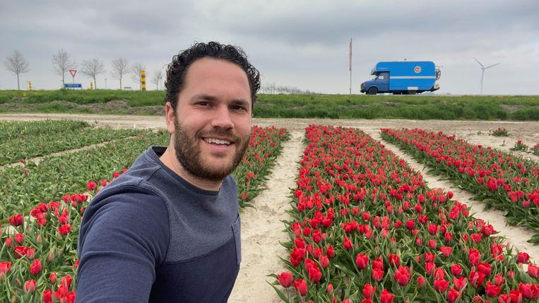 Stijn Verhulst (30) trekt met zijn camper door Luxemburg, België en Frankrijk. Beeld