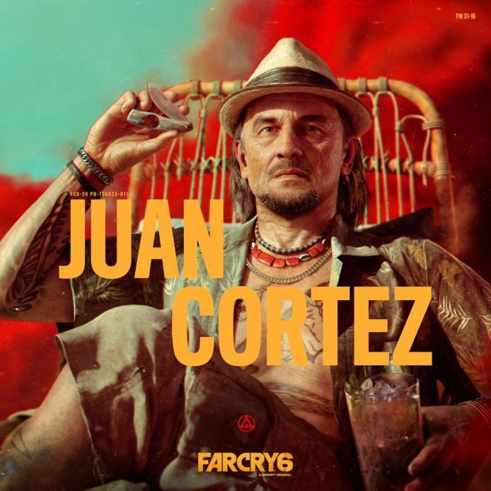 Juan Cortez, guerrilla-veteraan en mentor van je hoofdpersonage.