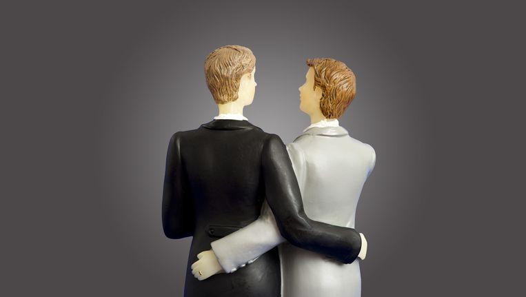 De Eerste Kamer steunt een initiatiefwetsvoorstel van D66 dat regelt dat ambtenaren voortaan niet meer kunnen weigeren om mannen- of vrouwenstellen in de echt te verbinden. Zittende weigerambtenaren blijven ongemoeid maar gemeenten mogen hen wel overplaatsen. Beeld anp