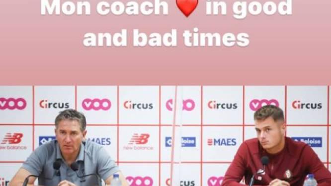 """Kapitein Zinho Vanheusden neemt het op voor Montanier: """"Mijn coach, in goede en slechte dagen"""""""