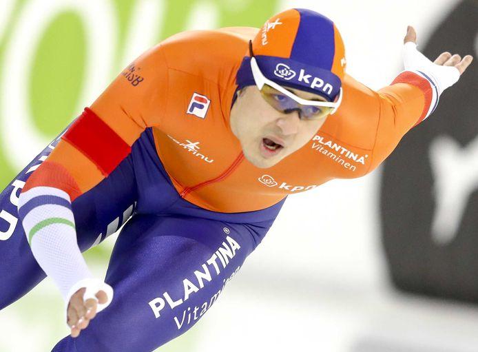 Kai Verbij tijdens het EK sprint in 2019.