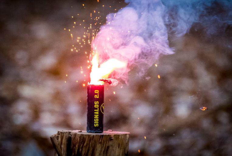 Een nitraat, nu al verboden vuurwerk. Beeld ANP
