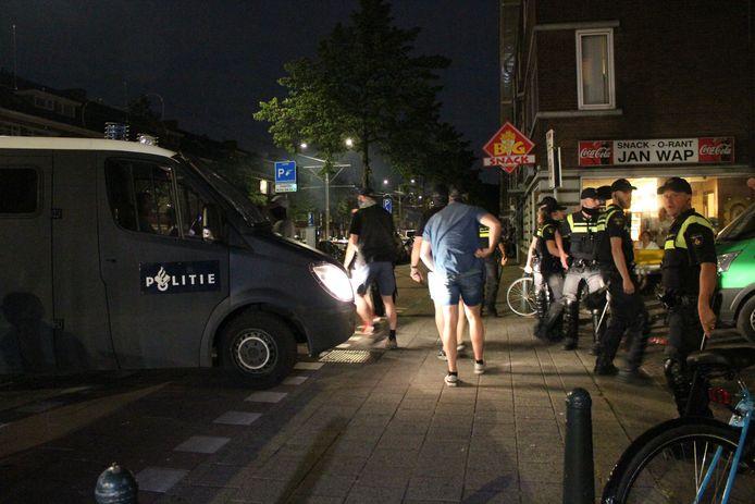 Op donderdagavond 17 juni was het wederom onrustig bij het Jonckbloetplein in Den Haag