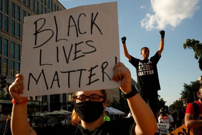 Een Black Lives Matter-protest. Archiefbeeld.