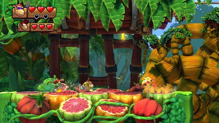 En we eindigen ook op de Nintendo Switch met 'Donkey Kong Country: Tropical Freeze'. Beeld Nintendo