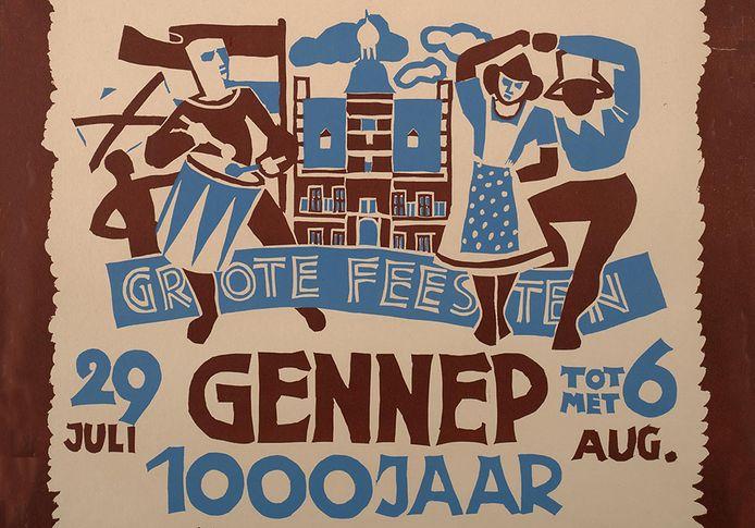 Detail van het affiche ter gelegenheid van het 1.000-jarig bestaan van Gennep.