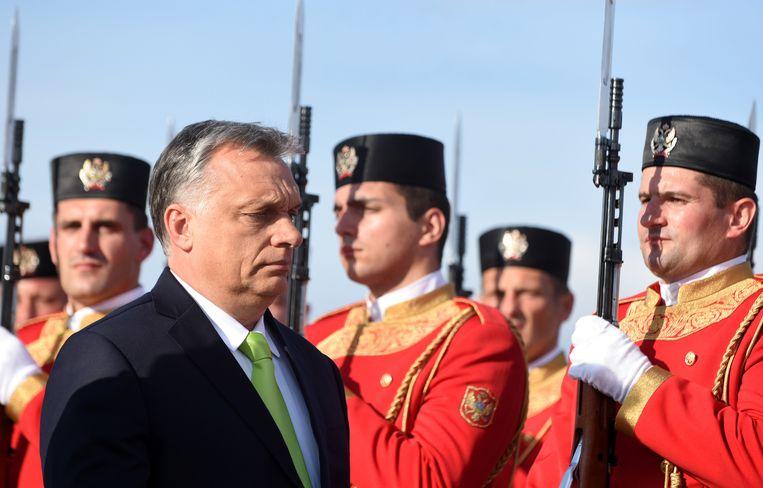 De regering van de Hongaarse premier Viktor Orban is fel gekant tegen vluchtelingen.  Beeld EPA