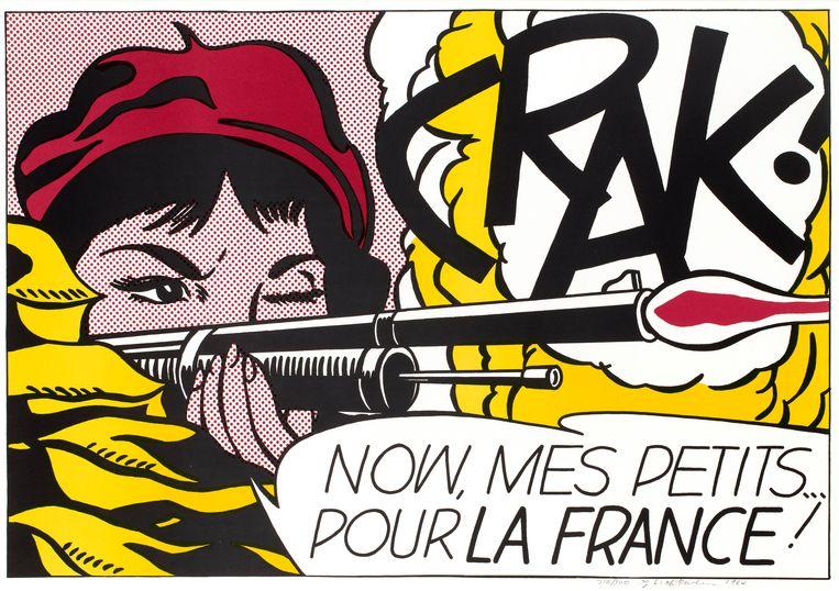 'CRAK!', 1963. Beeld Estate of Roy Lichtenstein / SABAM 2020