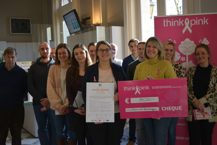 Cheque voor Think Pink.