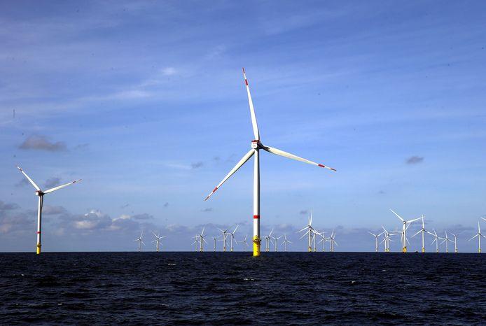 Un parc éolien au large des côtes belges, en mer du Nord.